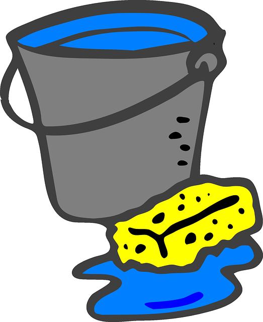 wiadro - pomoc w sprzątaniu